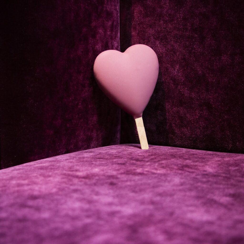 Gelato stecco a forma di cuore