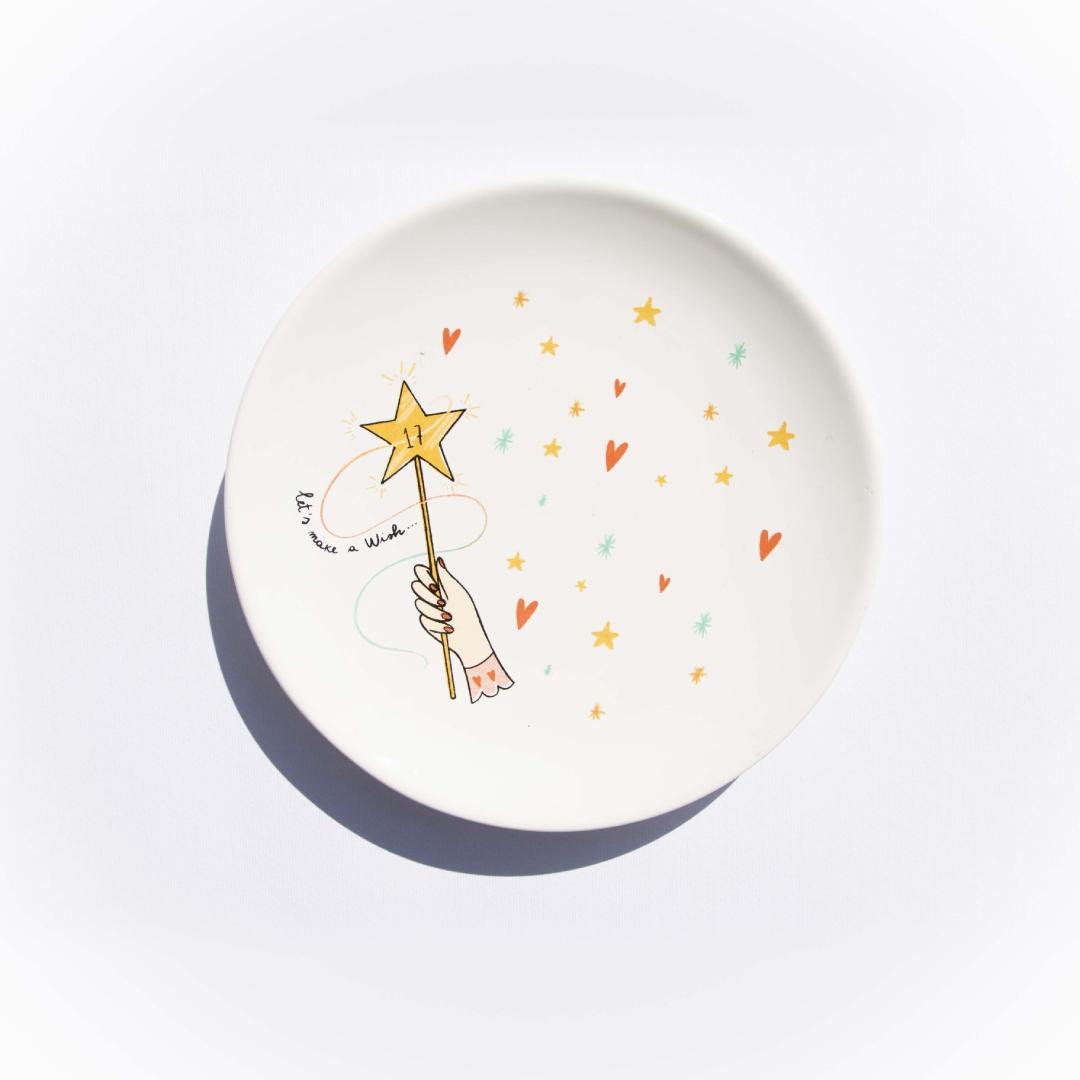 Piattino 'Let's make a Wish'